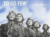 British propaganda poster during the Battle of Britain.