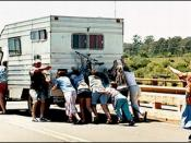 The family has motor home problems, and all members help out.