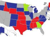 English: Seats up for election in the United States Senate election of 2014.