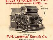 English: Lummus cotton gin advertisement, 1896