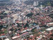 Panama City, tilt shift shot
