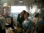 Scene from Top Gun in which Goose and Maverick sing the Jerry Lee Lewis hit