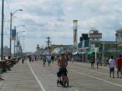 English: Boardwalk at Ocean City, New Jersey Deutsch: Boardwalk in Ocean City, New Jersey