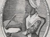 English: Frontispiece to Phillis Wheatley's Poems on Various Subjects... Русский: Филлис Уитли, портрет из сборника её стихов.