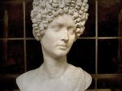 Portrait of a woman of the Flavian period, marble // Portrait bust of a young woman (Julia, daughter of Titus?). Marble. 80s—90s A.D. Rome, Capitoline Museums, Palazzo Nuovo, Hall of the Emperors.