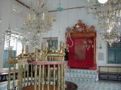 The Paradesi Synagogue in Kochi , Kerala , India