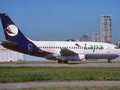 LAPA Lineas Aereas Boeing 737-200; LV-YBS@AEP, February 2003