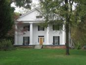 English: Bulloch Hall in Roswell, GA. In this home, Theodore Roosevelt, Sr. and Martha Bulloch, the parents of 26th US President, Theodore Roosevelt, were married in December of 1853.