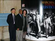 U.S. circuit judges Robert Katzmann, Damon Keith, and Sonia Sotomayor at a 2004 exhibit on the Fourteenth Amendment, Thurgood Marshall, and Brown v. Board of Education.