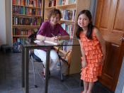 English: 2009 photo of Judy Blume with a young fan