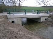 English: Rebuilt West Glen Bridge After major flooding problems in this area, a new bridge was built in 2008.