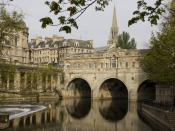 Pulteney Bridge, Bath, UK. Français : Pont Pulteney, Bath, Angleterre.
