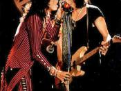 Steven Tyler and Joe Perry performing live in concert.