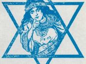 United States, World War I. Daughter of Zion (in Yiddish): Your Old New Land must have you! Join the Jewish regiment.