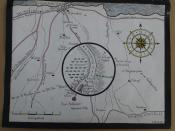 English: W. Stanley Moss's drawing of Kreipe Abduction Point