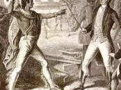 Tecumseh and Governor William Henry Harrison; Tecumseh's death in the Battle of the Thames in 1813 ended British hopes to create a neutral Indian state in the Midwest
