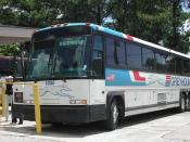 Greyhound Lines Bus # 6080 MCI DL3 photo by Robert Redden, Redden Archives