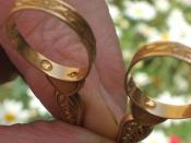 English: Hallmark for gold Français : poinçon d'un objet en or