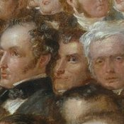 English: Richard Peek was a tea merchant in Liverpool and Londo - born and died in Devon. In the picture ... Around him are other delegates including John Sturge