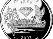 The quarter for Arkansas, released October 20, 2003