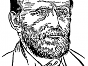 English: Head portrait drawing of President of the United States Ulysses S. Grant