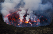 English: Lava Lake of the Nyiragongo Volcano in Virunga National Park in Eastern DRC