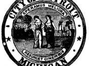 English: City seal of Detroit, Michigan.