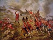 English: A photomechanical, halftone color print depicting the Battle of Bunker Hill. Source image has been cropped to remove borders.