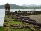 English: Santiago Battery in Portobelo, a fortification in the Atlantic coast in Panama. Español: La Batería de Santiago en Portobelo, fortificación en la costa Atlántica de Panamá.