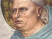 St. Thomas Aquinas (c. 1225-1274), the eponym of Thomism. Picture by Fra Angelico (c. 1395-1455).