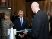 Army secretary tours research, development facilities