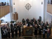 kreuznacher-diakonie-kantorei (conductor Helmut Kickton) in public concert (Marc Antoine Charpentier: Te Deum)