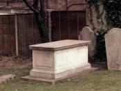 Photograph of the grave of Edmund Halley at St. Margaret's Churchyard, Lee, Lewisham