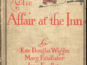 The Affair at the Inn has four different narrators. Jane Findlater writes from the viewpoint of Cecilia Evesham, a lady's companion to Mrs. McGill, whose first person narrative is by Mary Findlater.