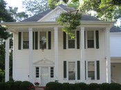 English: I took photo of Greek-style residence in Homer, LA, with Canon camera.