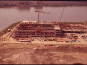 A NEW SOLIDS PROCESSING FACILITY IS BEING BUILT AT THE BLUE PLAINS SEWAGE TREATMENT PLANT - NARA - 547235