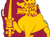 English: Flag map of Sri Lanka