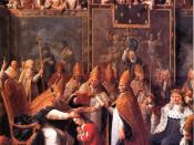 The Anointing of young Louis XV as King of France.