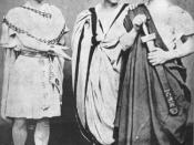 John Wilkes Booth, Edwin Booth and Junius Booth, Jr. (from left to right) in Shakespeare's Julius Caesar in 1864.