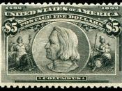English: Columbus_1892_Issue-$5.jpg Christopher columbus