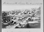 Andersonville prisoners and tents, southwest view showing the dead-line, August 17, 1864.