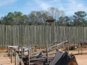English: reconstructed wall at Andersonville