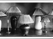 'Good types of lamps,'' photographed by Troy in 1918 for Miss Warner for ''Manual ...