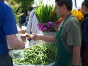 Transaction at a Farmers' Market in 2009.