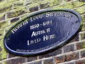 GOC Hampstead 025:  Plaque to Robert Louis Stevenson