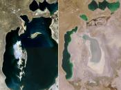 English: Comparison of Aral Sea between 1989 and 2008