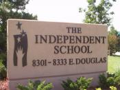 Sign of The Independent School in Wichita, Kansas