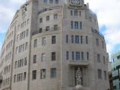 BBC Broadcasting House, Portland Place at the head of Regent Street, London