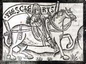 The clerk, one of the pilgrims in Chaucer's Canterbury tales