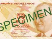 English: Front of 50 Turkish Lira Türkçe: 50 Türk Lirası'nın ön yüzü